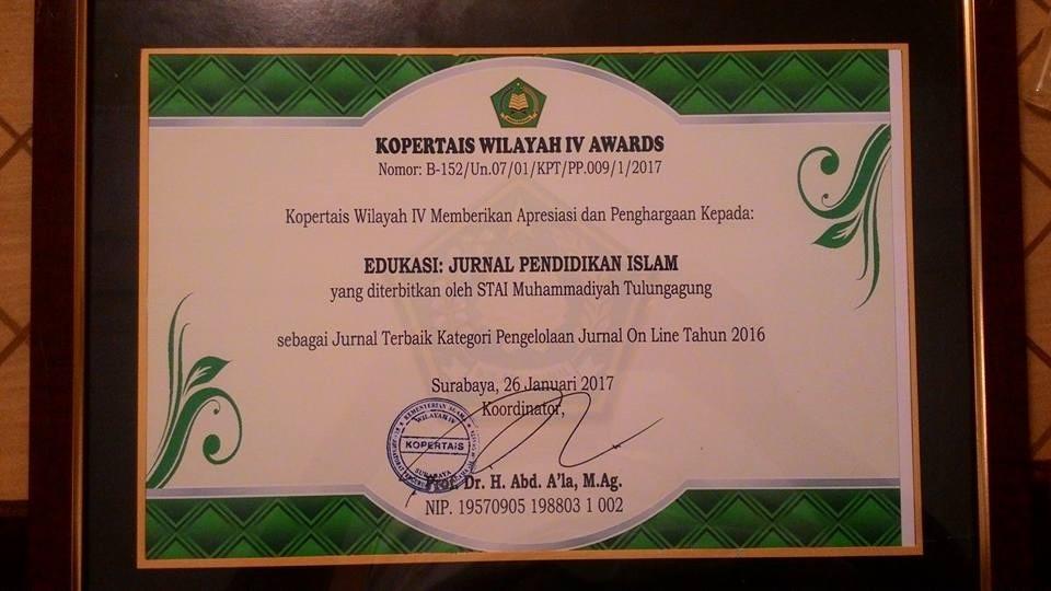 Jurnal EDUKASI STAIM Raih Penghargaan Jurnal Terbaik