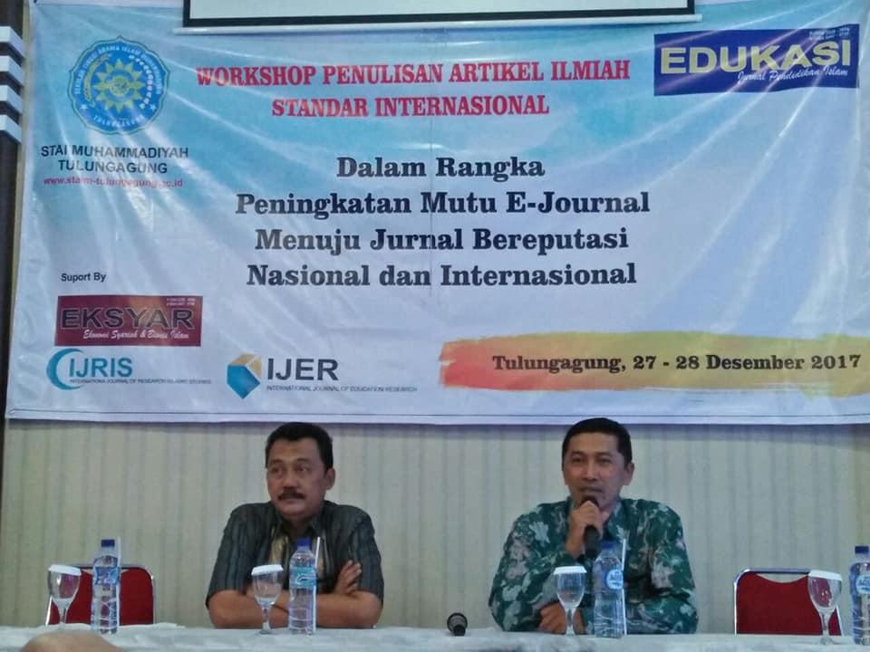 Workshop penulisan artikel ilmiah Standar Internasional